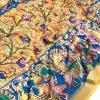 Orange printed linen sarees online dvz0001580