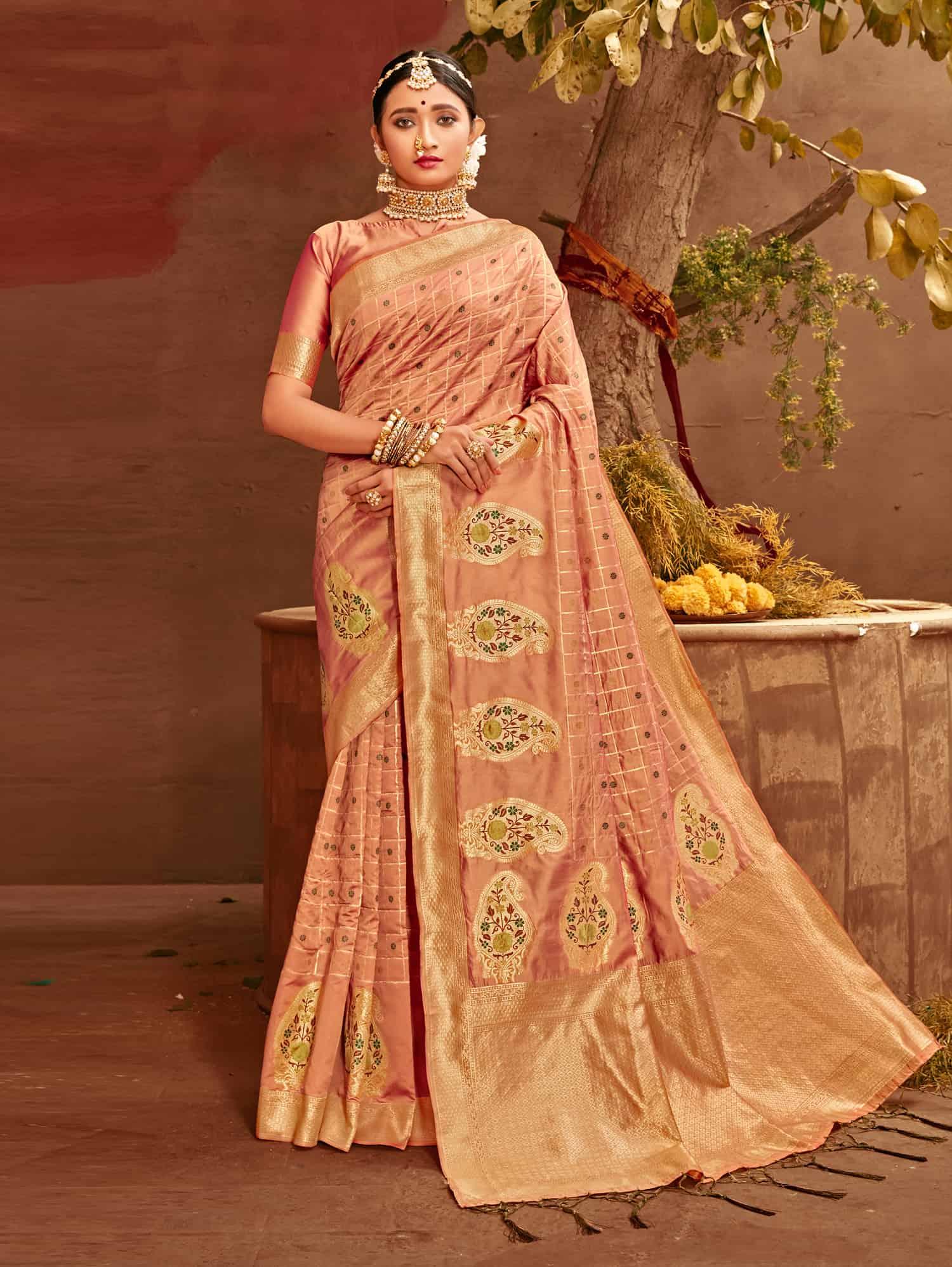 Peach Fancy soft silk Traditional saree dvz0002510