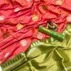 Peach Soft Banarasi Lichi Silk Saree dvz0002202