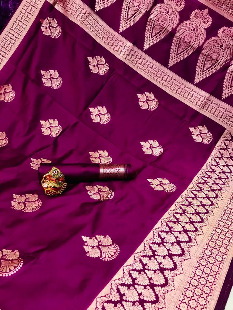 Pink Soft Banarasi Cotton Silk Saree dvz0002432