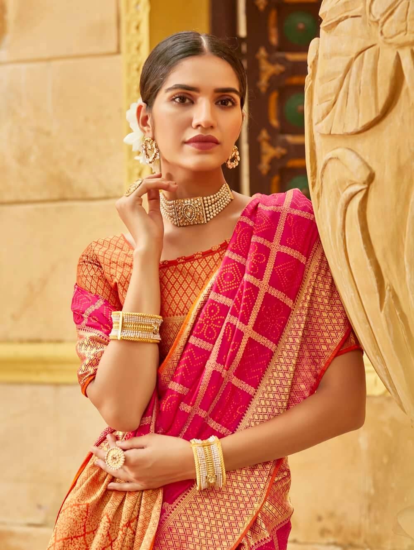 Pink Soft silk Weaving Pallu work saree dvz0002672-4