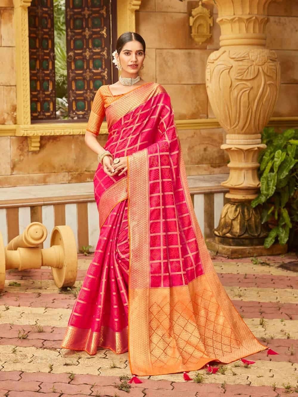 Pink Soft silk Weaving Pallu work saree dvz0002672