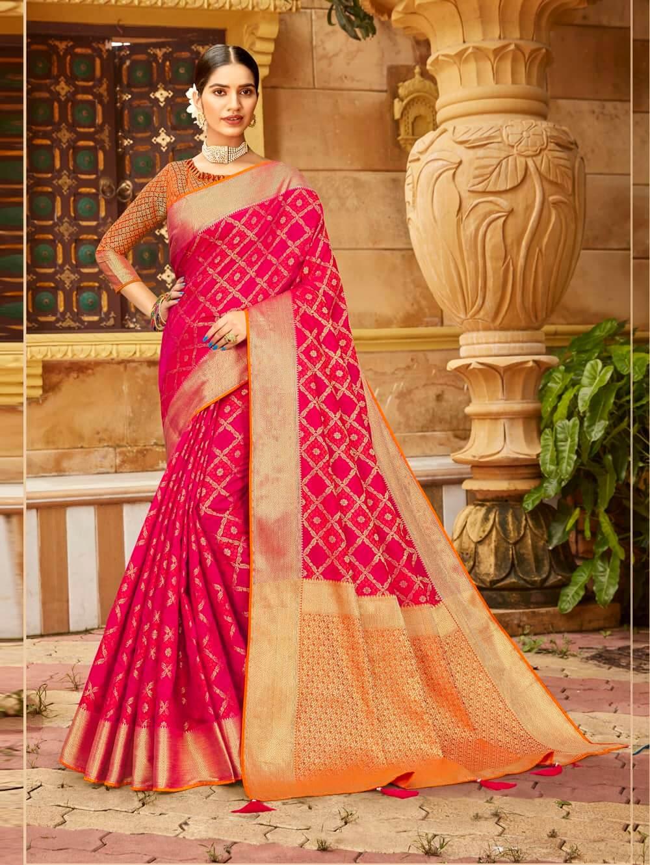 Pink Soft silk Weaving Pallu work saree dvz0002673