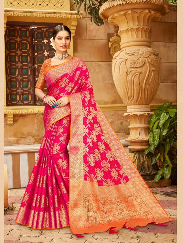 Pink Soft silk Weaving Pallu work saree dvz0002674