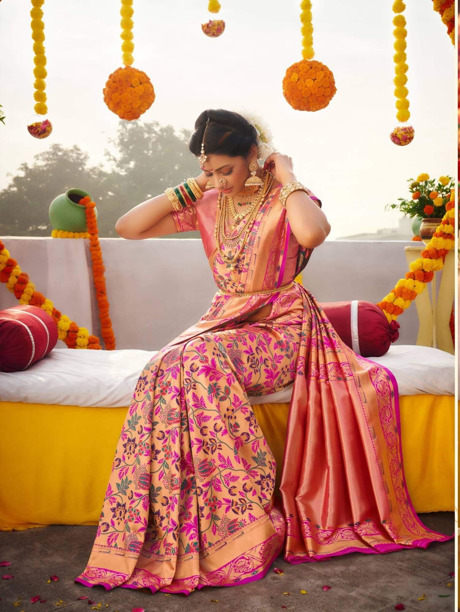 Pure Kanchipuram Silk Bridal Saree dvz0002466