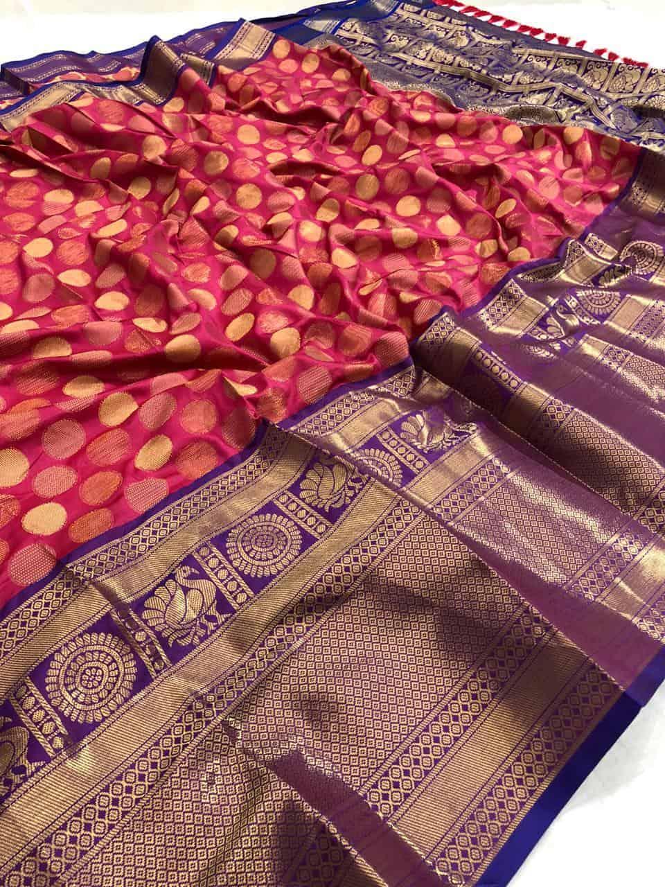 Red Kanchipuram Silk Saree Online dvz0001432 - DVANZA
