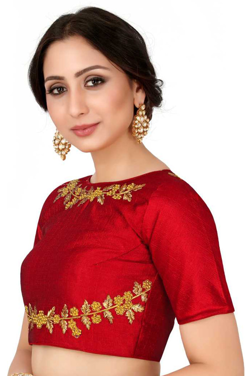 Red Readymade Blouse dvz0001040