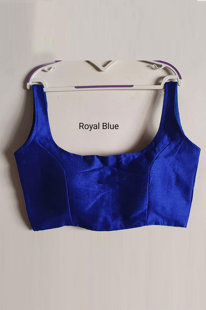 Royal-blue-Readymade Heavy Phantom Silk Blouse dvz0001021- saree blouse online