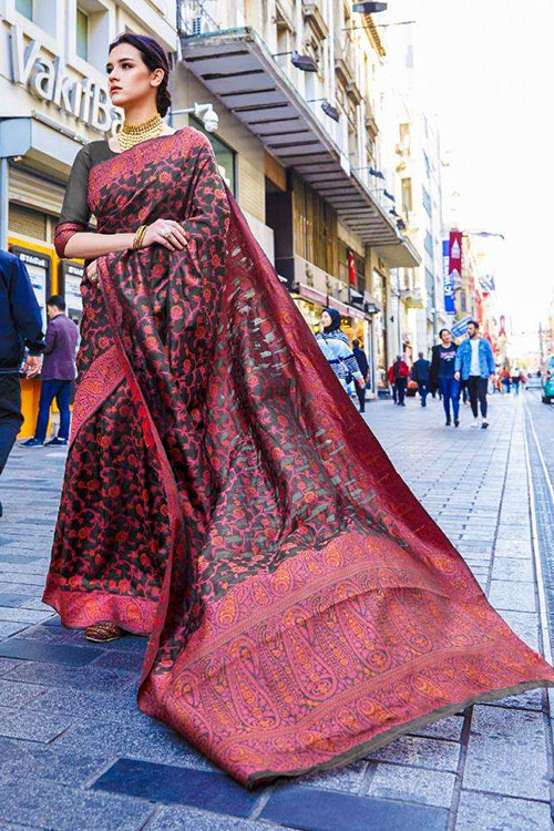 Soft Krystal silk saree in MultiColor dvz0001064 - RajTex - Kaalgi silk