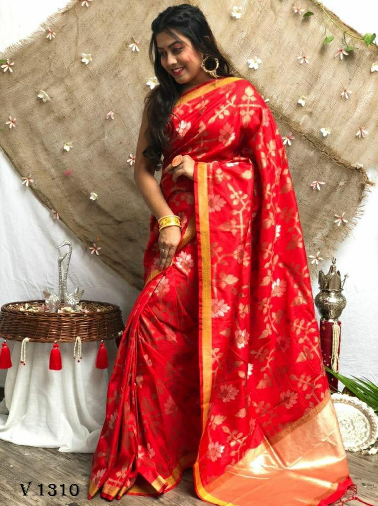 Soft Silk Designer Party Wear Saree in Maroon dvz0002541