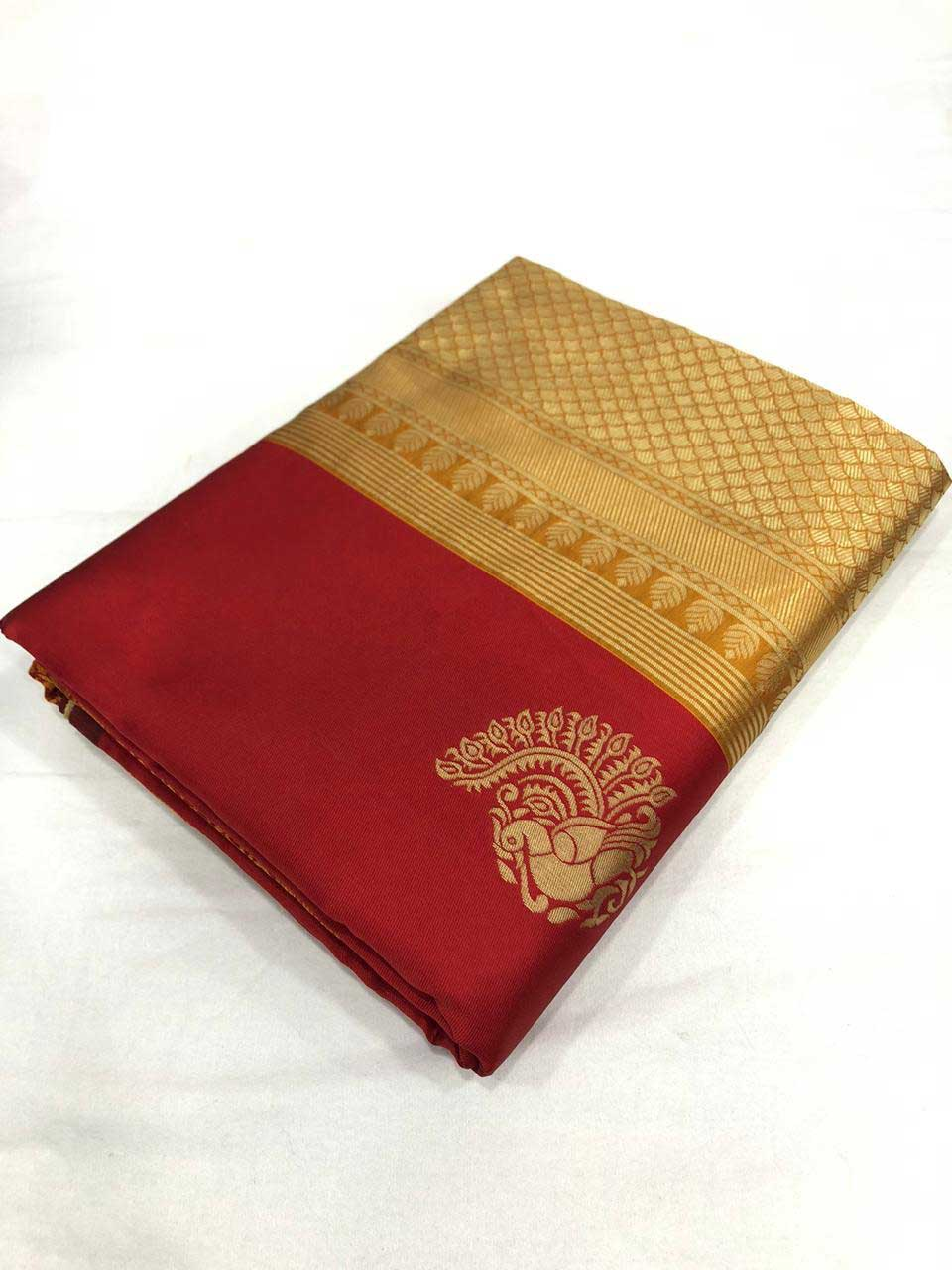 Soft Silk Saree (maroon) dvz0001329