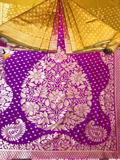 Soft Silk woven Saree (mustard) dvz0001331