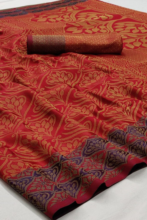 Soft Weaving silk saree online india -dvz0001262