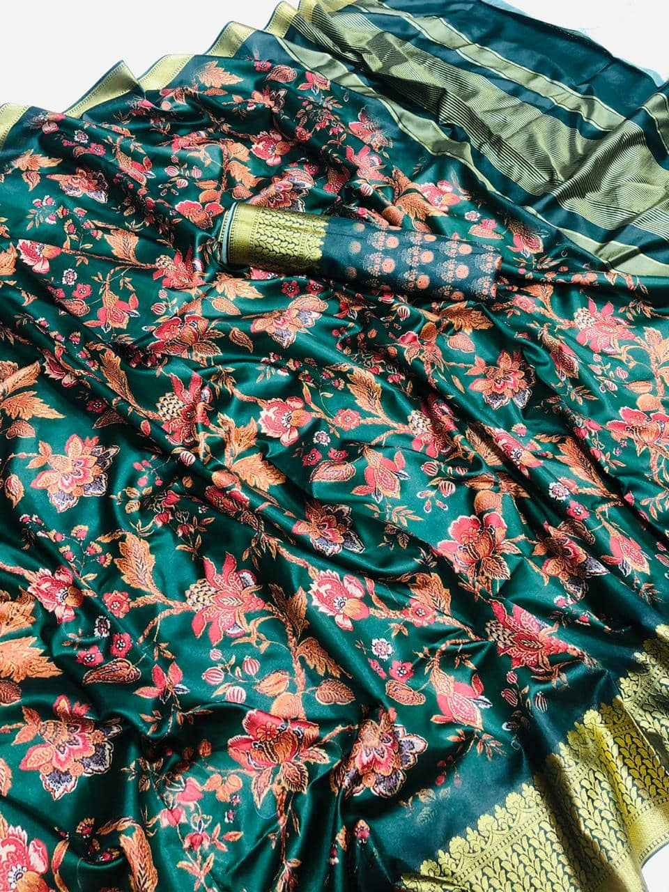 Soft cotton jacquard border with digital printed saree dvz0001541