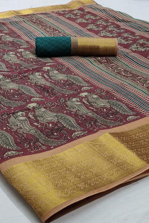Soft cotton saree from dvanza - dvz0001144 - sasya designer sarees online