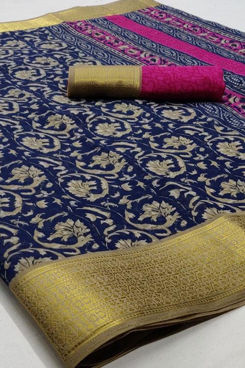 Soft cotton saree from dvanza - dvz0001147 - diwli shopping