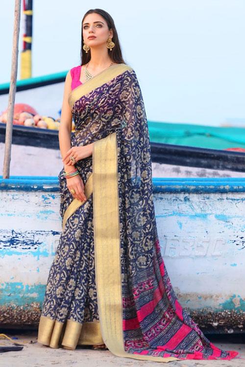 Soft cotton saree from dvanza - dvz0001147