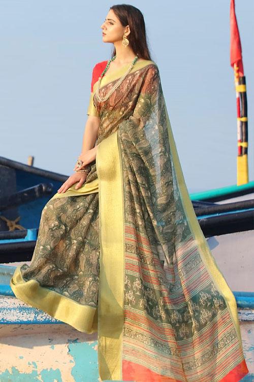 Soft cotton saree from dvanza - dvz0001148