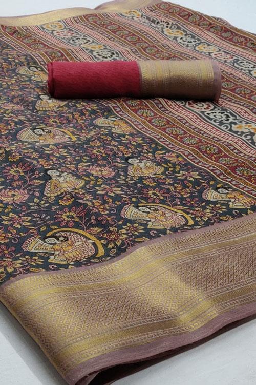 Soft cotton saree from dvanza - dvz0001150 - diwali shopping