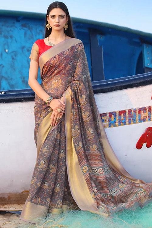 Soft cotton saree from dvanza - dvz0001150