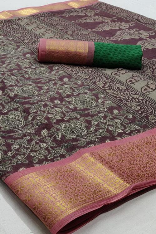 Soft cotton saree from dvanza - dvz0001152-2