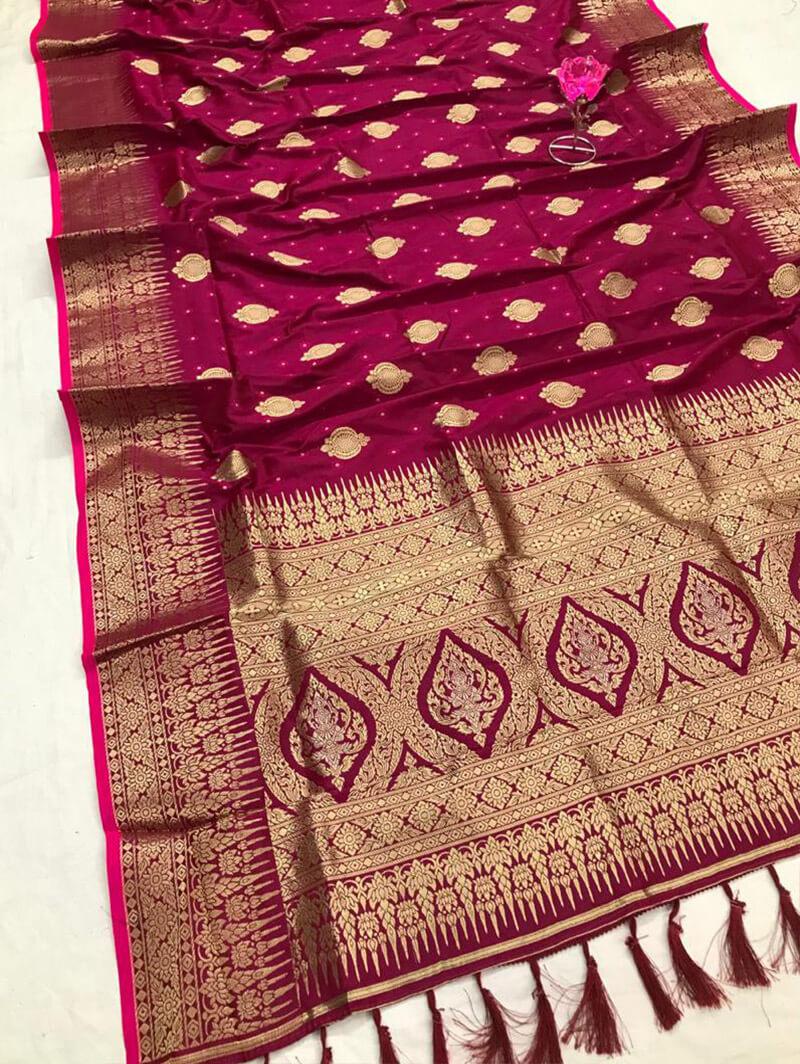 Stunning Dashing Pink Soft Silk Rich Look saree dvz0002679