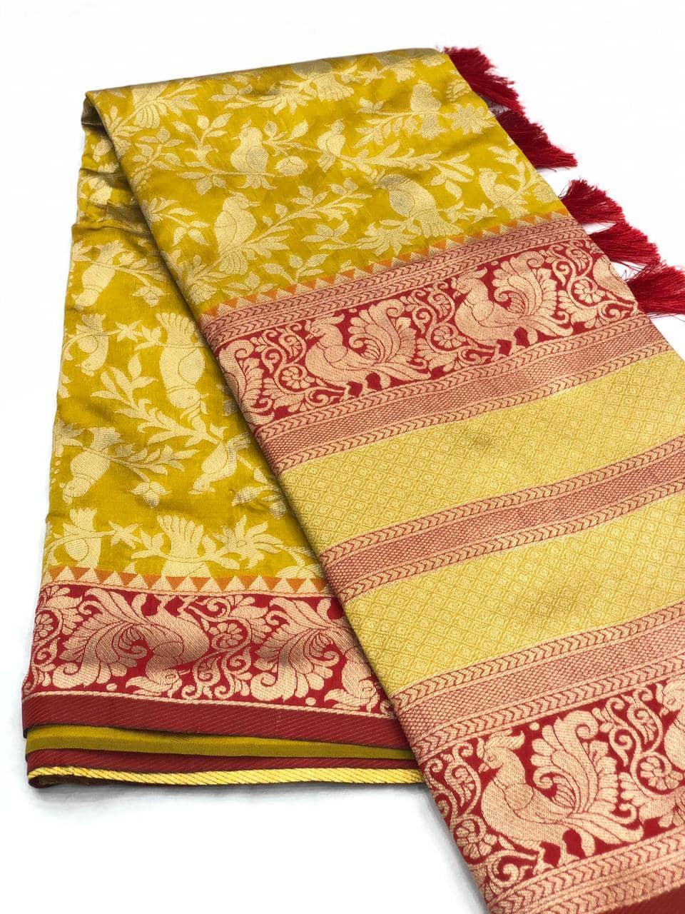 Stunning Kanchipuram Silk Traditional Saree in Green dvz0001758