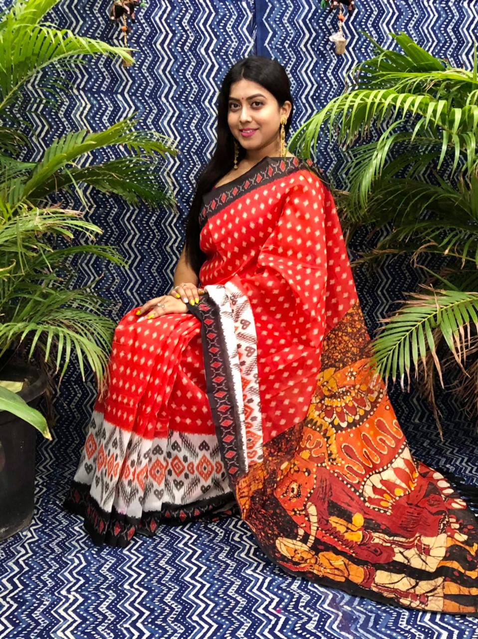 Trending Printed Linen silk saree dvz0002254 lenin sarees collection