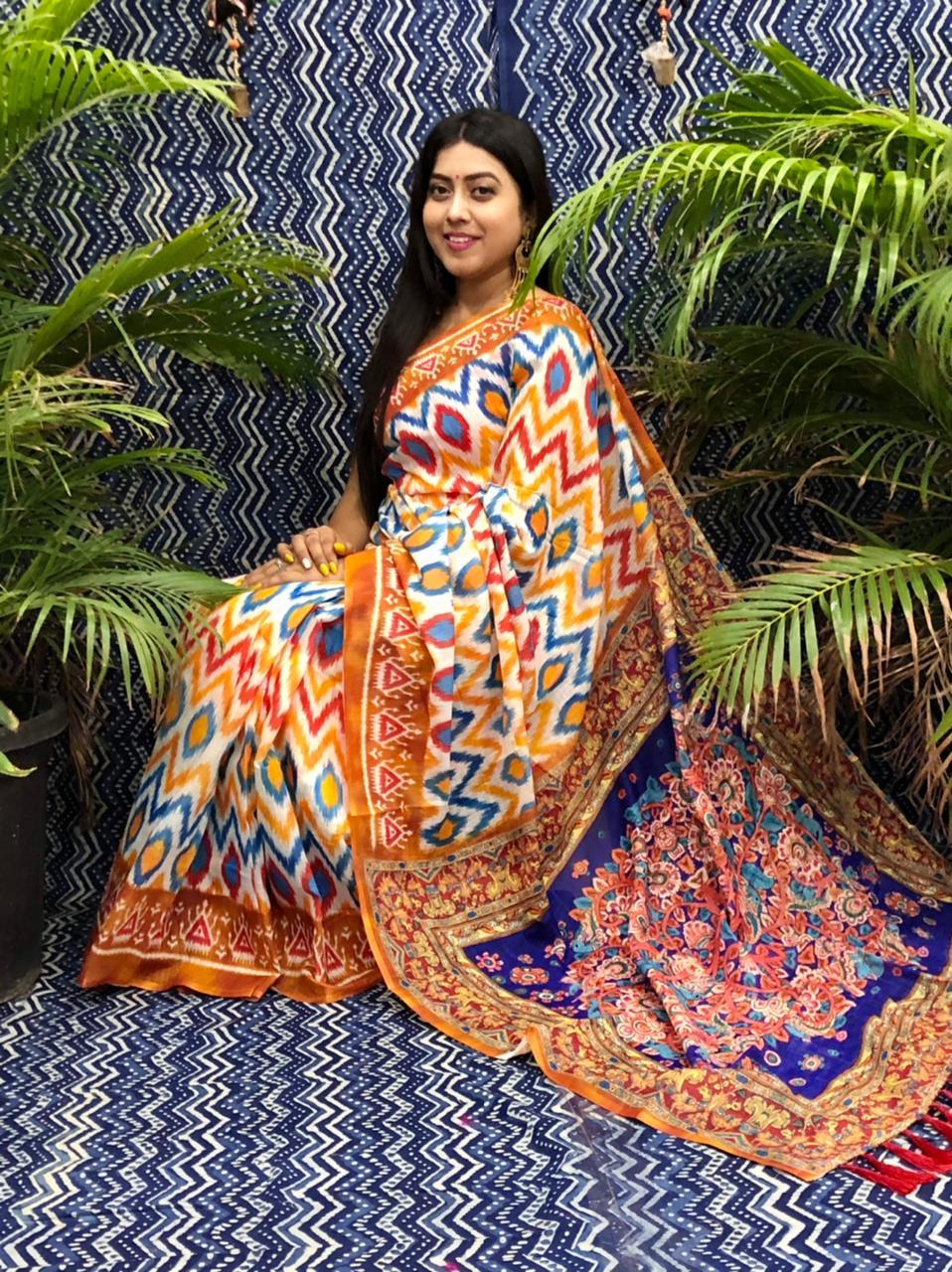 Trending Printed Linen silk saree dvz0002262 fancy linen sarees