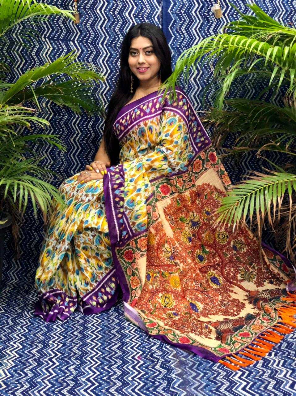Trending Printed Linen silk saree dvz0002263 fancy linen sarees
