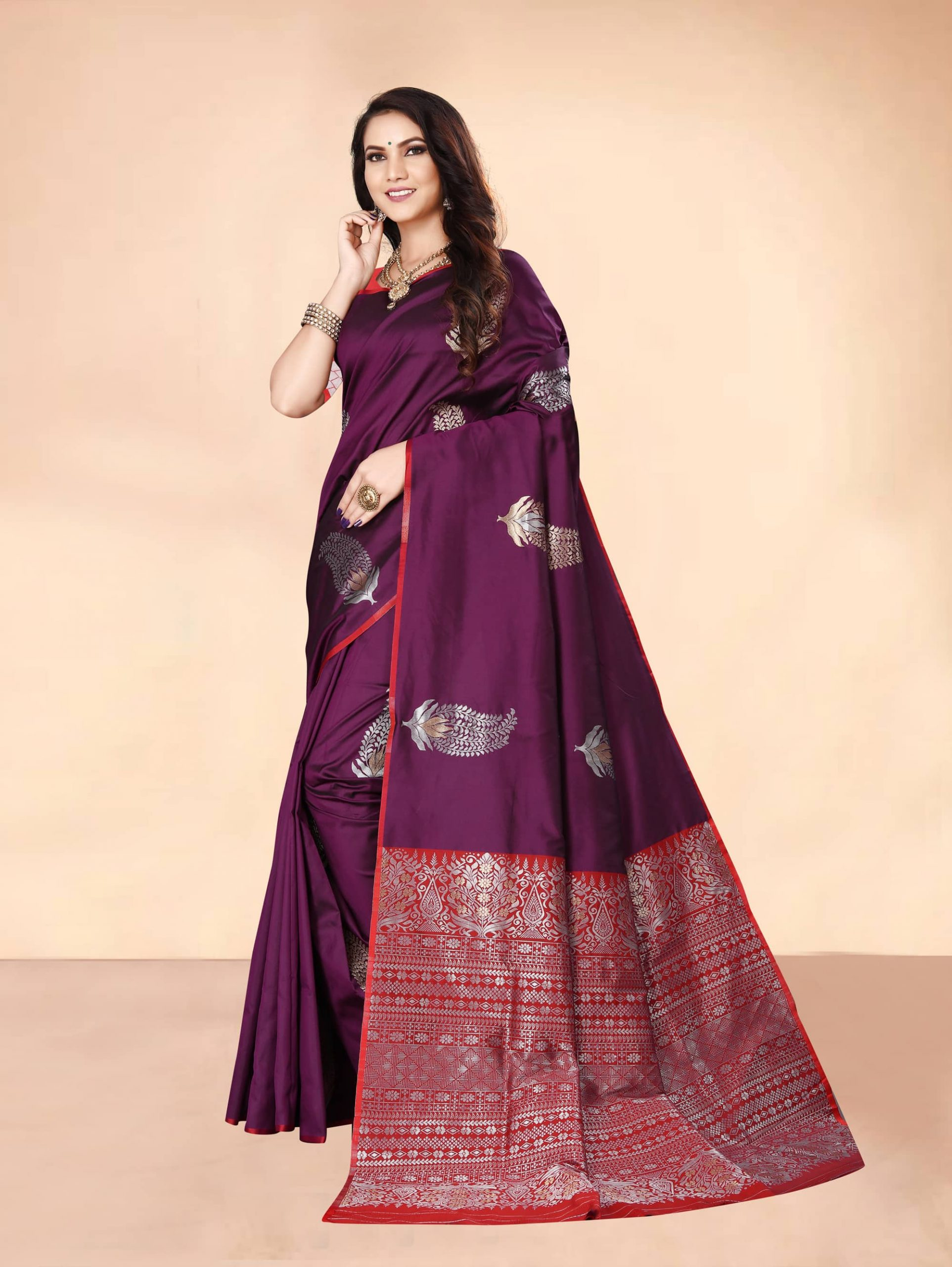 Trending Purple Soft silk woven saree dvz0002282-2