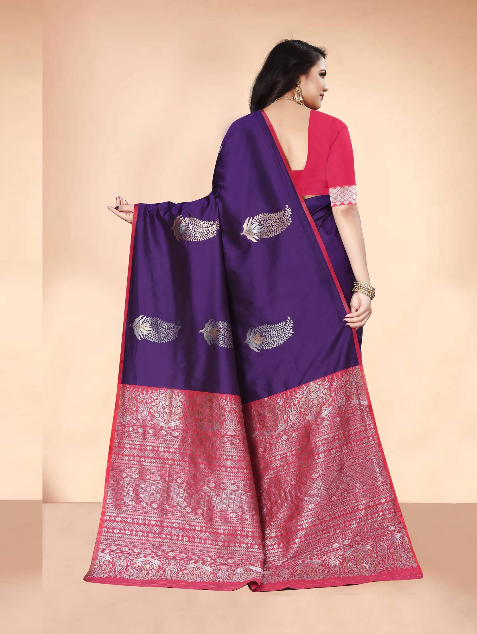 Trending Purple Soft silk woven saree dvz0002283-4
