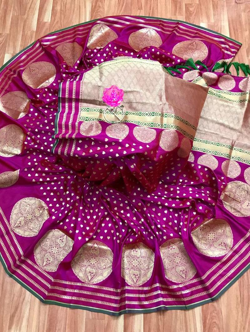 Trendy Banarasi Soft Silk Saree in Pink dvz0002498