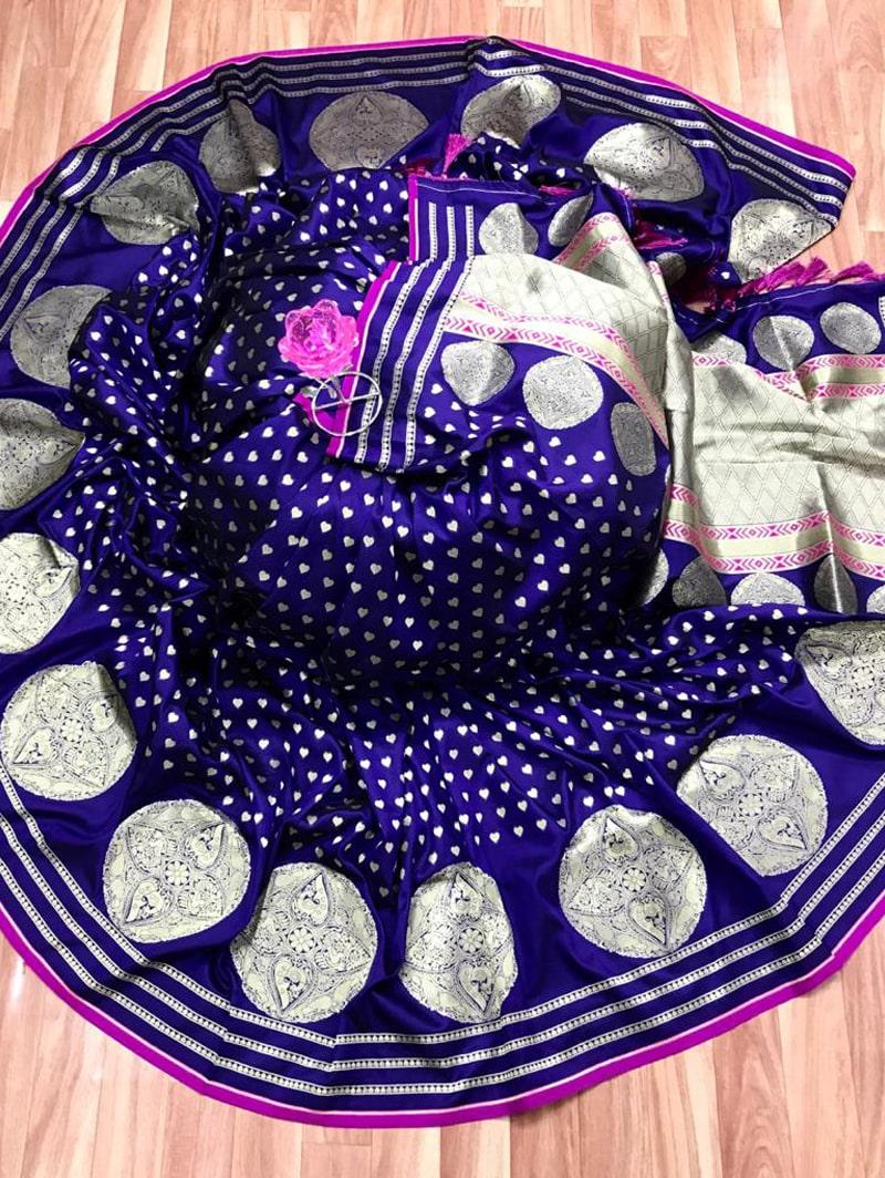 Trendy Banarasi Soft Silk Saree in Purple dvz0002496
