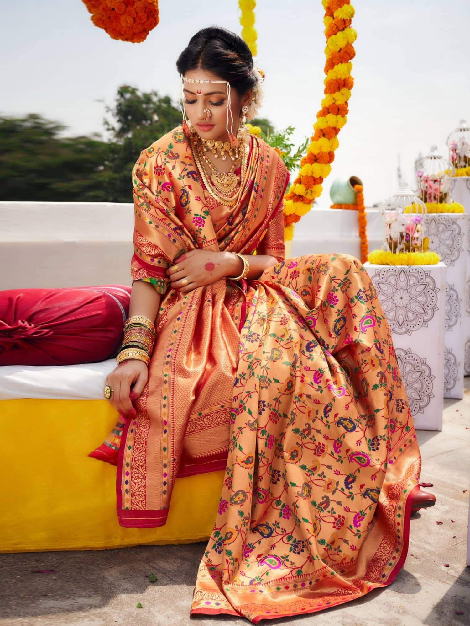 Unique Kanchipuram Silk Bridal Saree dvz0002469