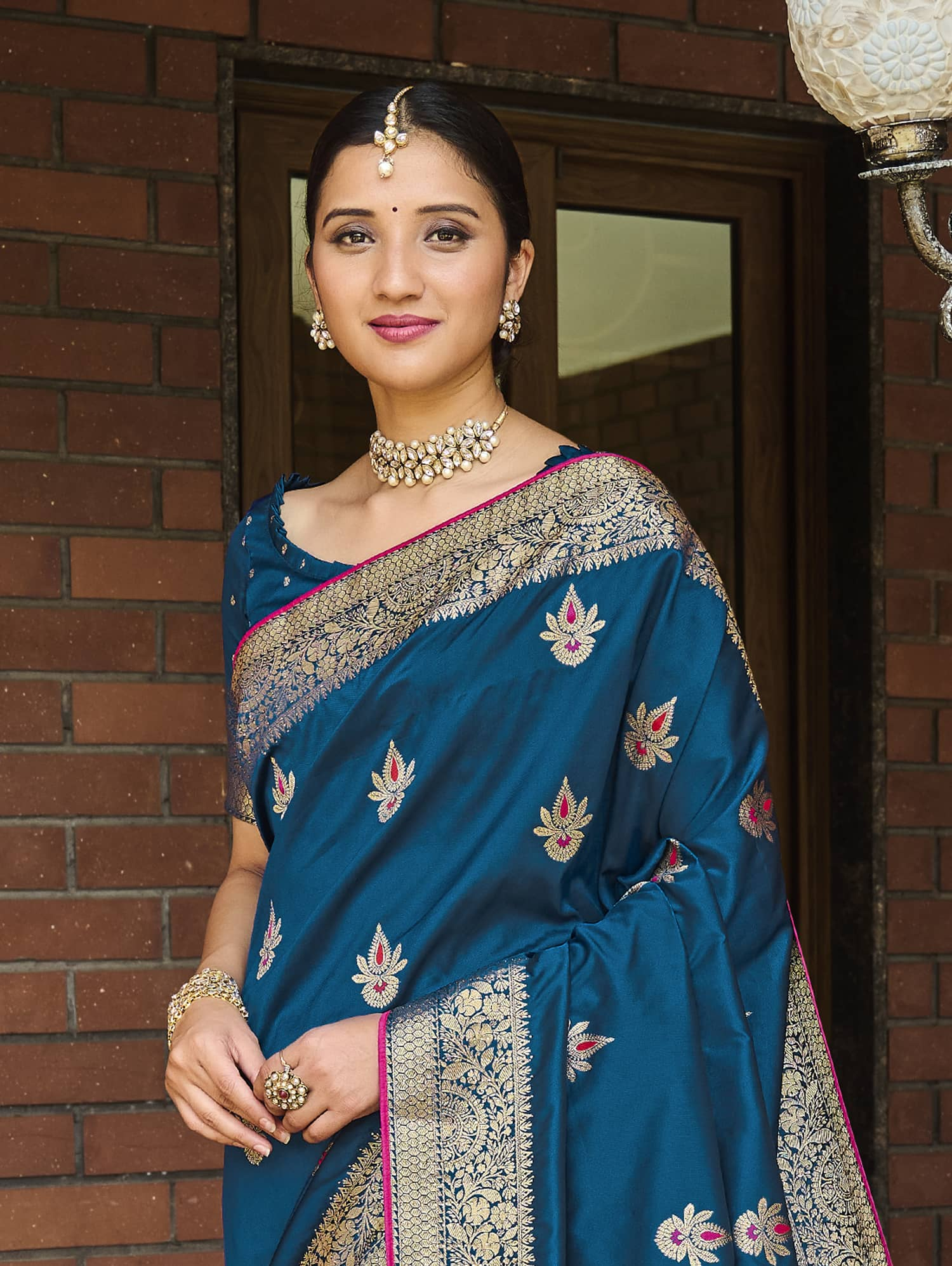 Women's Blue Soft silk saree dvz0002351-2