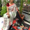 Women's Digital web Printed Linen saree dvz0001944