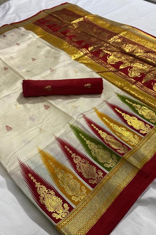 Women's Foil printed jacquard border saree dvz0001290 - soft silk saree with price