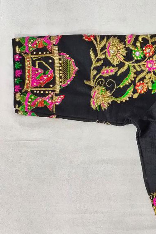 Women's Heavy Fantom cloth with thread work Blouse sleeves dvz0001023