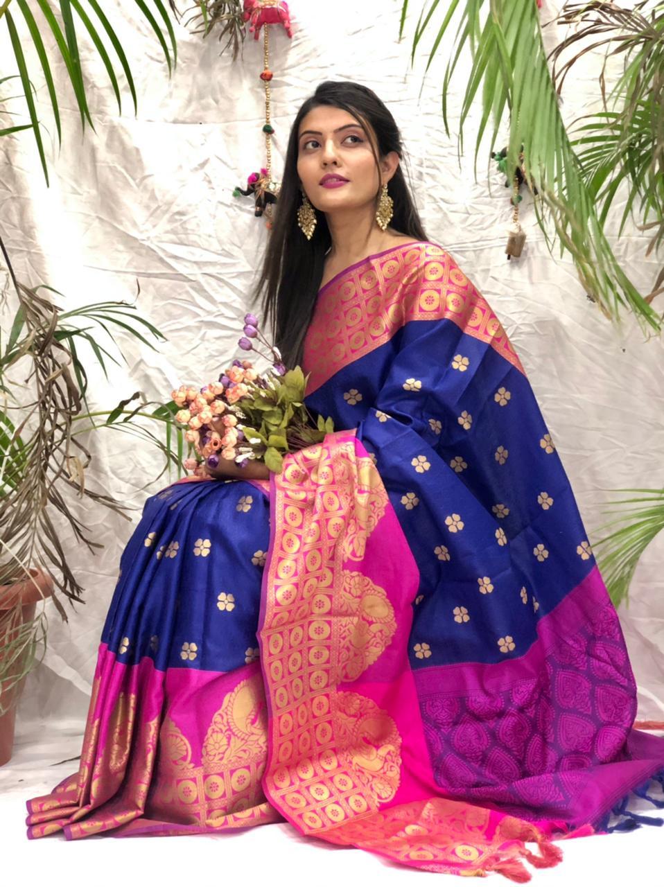 Women's Stylish Kora muslin silk saree online dvz0002166