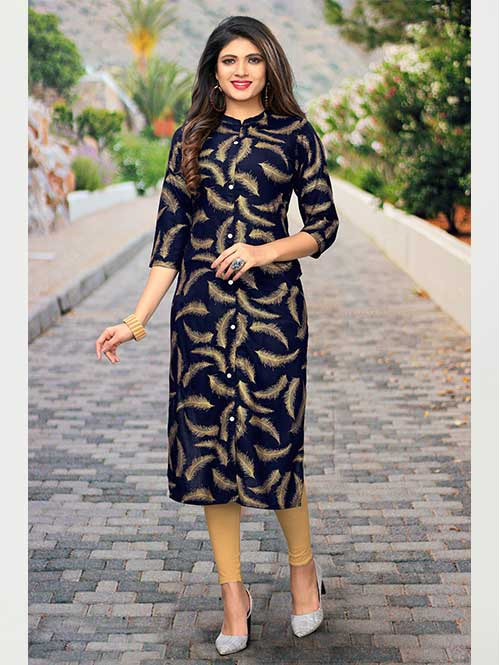black-beautiful-printed-rayon-shirt-style-kurti-dvz000238