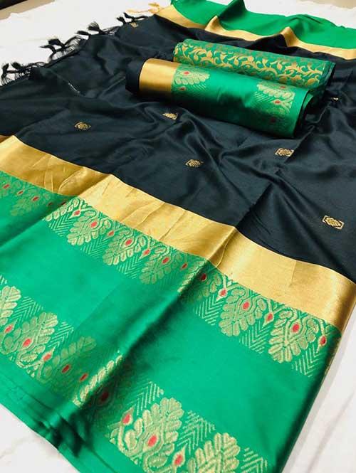 black-colored-beautiful-branded-cotton-silk-saree-dvz000151 (1)