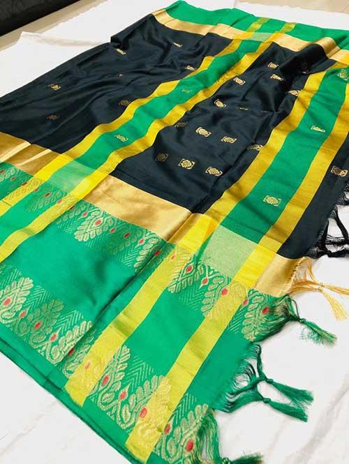 black-colored-beautiful-branded-cotton-silk-saree-dvz000151 (2)