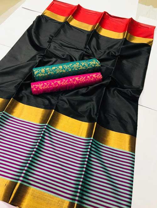 black-colored-beautiful-branded-cotton-silk-saree-prafulla-dvz000164 (1)