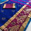blue-color-cotton-silk-embroidery-saree-dvz000124
