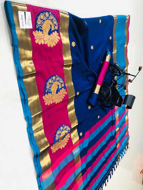 blue-color-cotton-silk-embroidery-saree-dvz000194