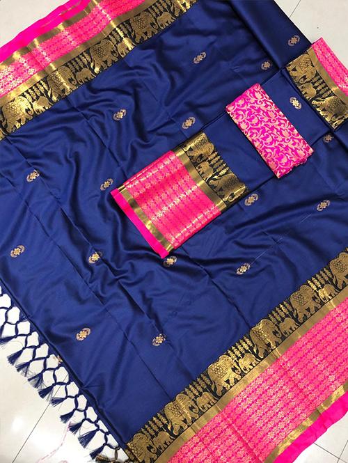blue-colored-glorious-cotton-silk-saree-dvz00053 (1)