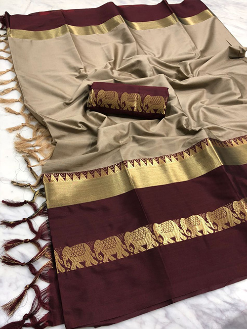 cream-colored-beautiful-branded-cotton-silk-saree-dvz000140