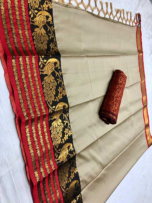 cream-colored-beautiful-branded-cotton-silk-saree-with-double-blouse-dvz000188 (1)