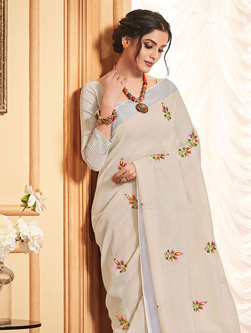 cream-colored-beautiful-embroidered-branded-linen-saree-dvz000154 (1)